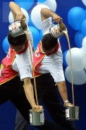 A Teh Tarik competition held in Kuala Lumpur, Malaysia.